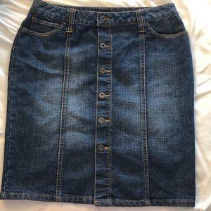 Apt. 9 petite denim button skirt